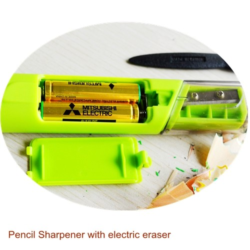 Student Supplies Promotional Products Pencil Sharpener with Electric Eraser